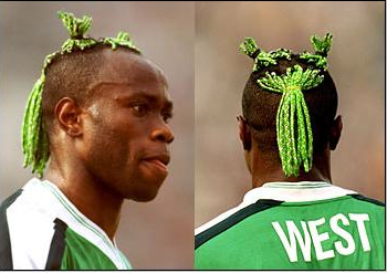 Fine Taribo West39S Hairstyle Crowned 39Worst Haircut In Football History Short Hairstyles Gunalazisus